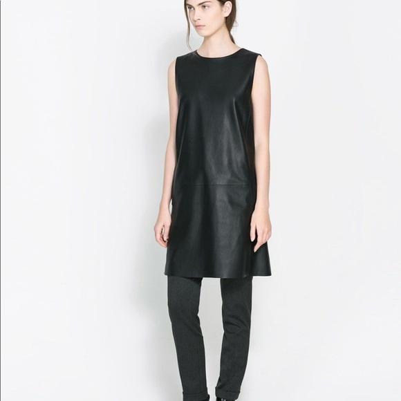 bb6ca56efc5f3 Zara Dresses | Faux Leather Dress | Poshmark